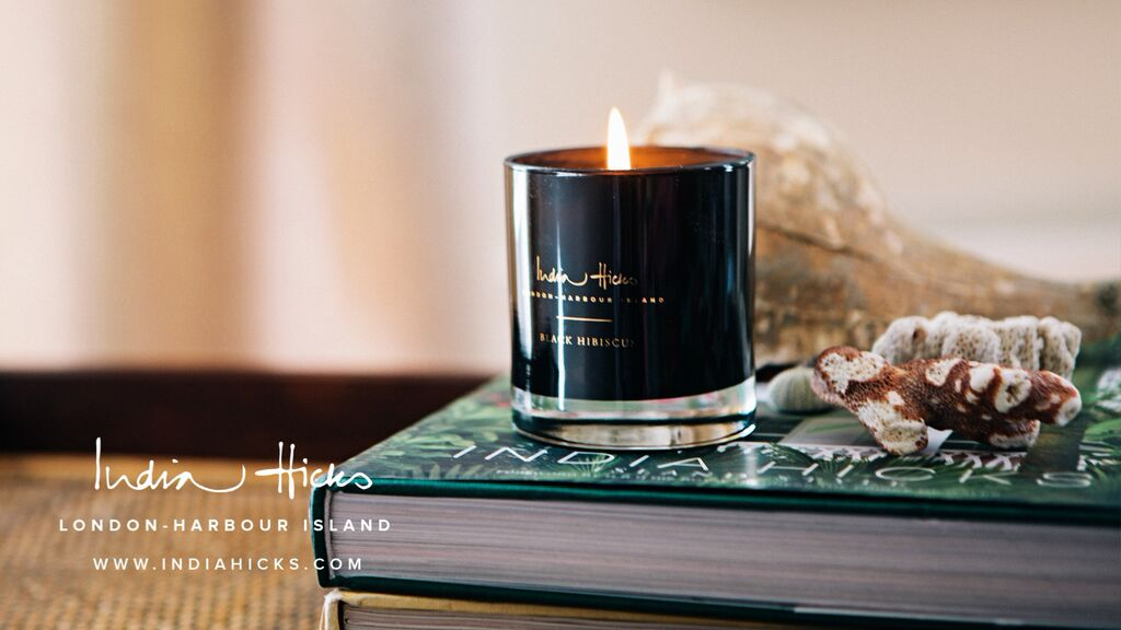 Black Hibiscus Candle