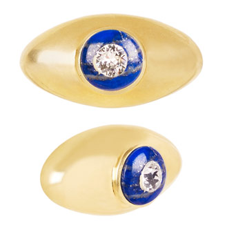 The Liz Eye knob in Lapis Lazuli