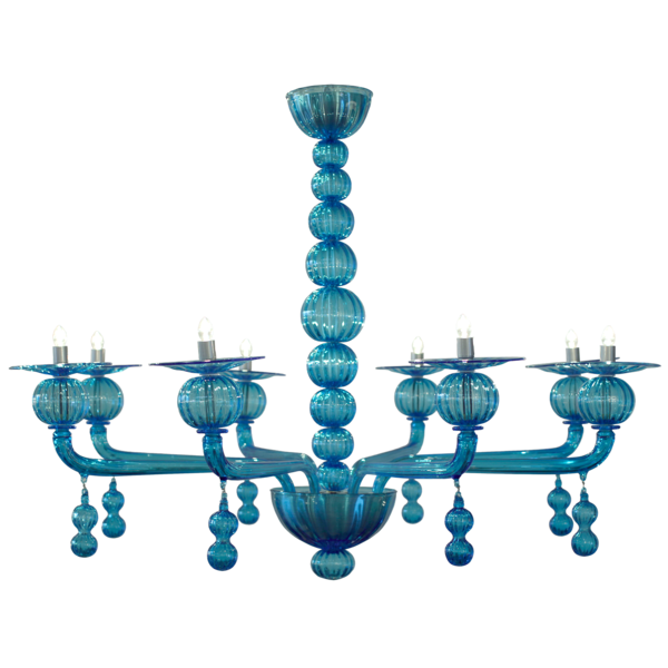 Italian Murano chandelier by Barbini