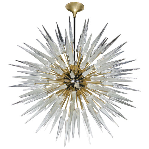 "The 42"" Murano Spiked Starbust Chandelier"