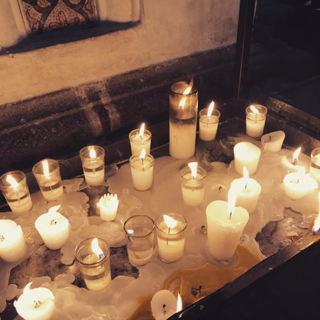 Soft prayers in a sunday sanctuary on the busy townsquarehellip