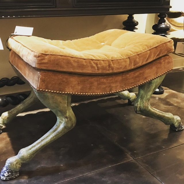 Have ALWAYS wanted a hoofed footstool like this one comeshellip