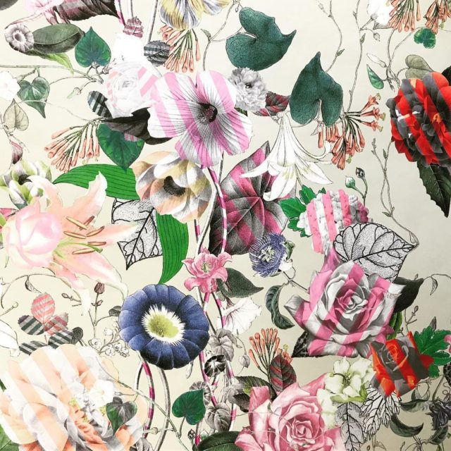 Perfect  edgy floral flowers wallpaper wallcovering design christianlacroix sourcinghellip