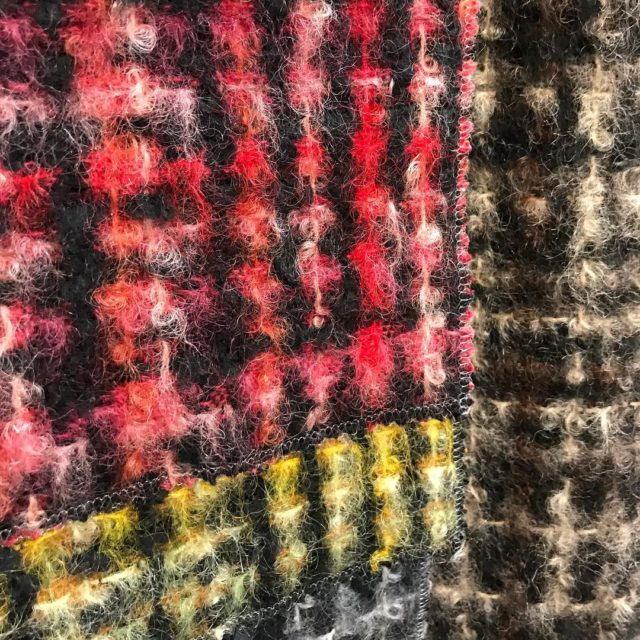 Fallward thinking with textural fuzzy plaid textiles fabric wool idcollectionusahellip