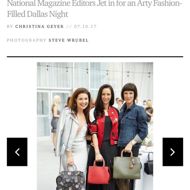 Thank you dallas papercitymag for covering the fab coach event!hellip