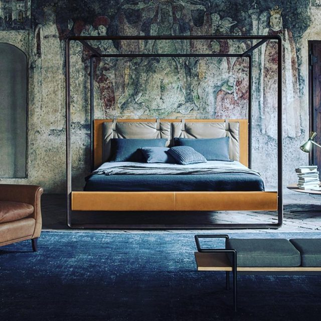 Adore everything about poltronafrauofficial italian volarebed scottcooner fourposter woodenframe modernhellip